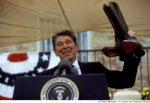 Presdident Ronald Reagan with Cowboy Boots