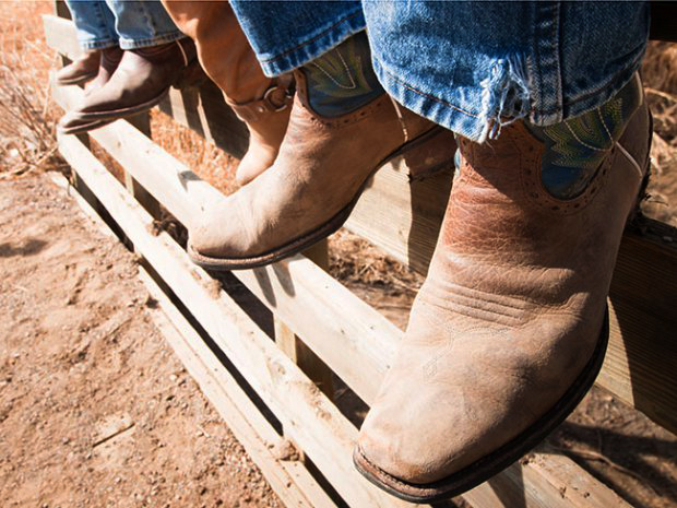 Wearing Roper Cowboy Boots