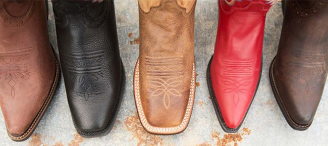 Cowboy Boots styles for toe types