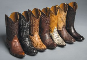 Different types of cowboy boots
