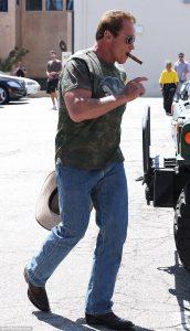 Arnold Schwarzenegger Wearing Boots