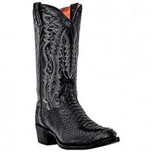 Dan Posts Black Python Snakeskin Boots