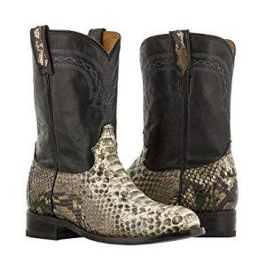 Snakeskin Roper Cowboy Boots