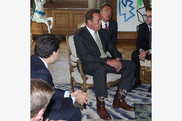 Arnold Schwarzenegger Wearing Lucchese Cowboy Boots
