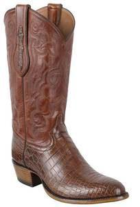 Tony Lama Signature Series Men's Chasi Brown Nile Crocodile Belly Boots