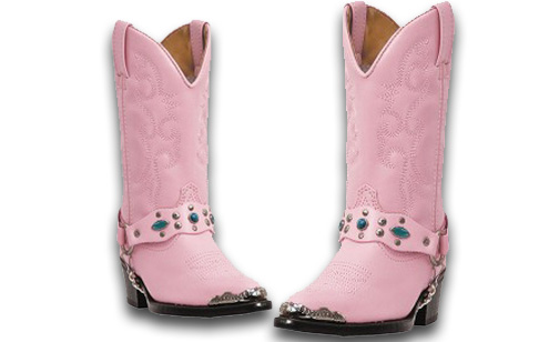 Laredo Little Pink Concho – Kids Cowboy Boots