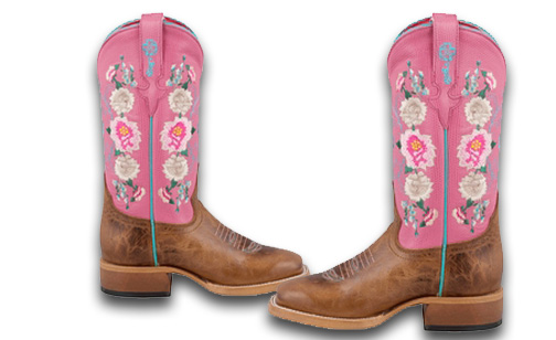 Macie Bean Little girls Honey Bunch Rose Lizard Print Boots