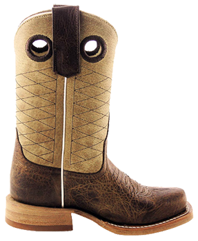 ANDERSON BEAN KIDS TAN AND BROWN PIT BULL KIDS COWBOY BOOTS
