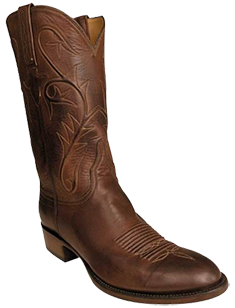 LUCCHESE MENS BURNISHED RANCH HAND BOOTS WITH FOWLER TOE