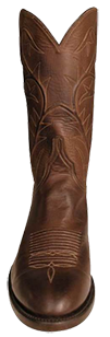 LUCCHESE MENS BURNISHED RANCH HAND BOOTS WITH FOWLER TOE HANDMADE COWBOY BOOT