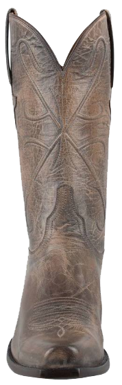 LUCCHESE MEN'S PEARL BONE MAD DOG GOAT HANDMADE COWBOY BOOTS