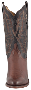 LUCCHESE MEN'S WHISKEY BABY BUFFALO ROPER HANDMADE COWBOY BOOTS
