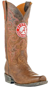 Alabama Crimson Tide Boardroom Embroidered Men's Cowboy Boots