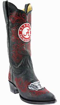 "Alabama Crimson Tide Women's 13"" Embroidered Boots - Black"
