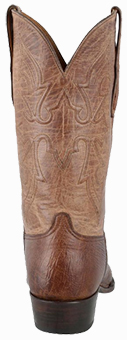 Discount Boots BLACK JACK FOR PINTO RANCH MEN'S BURNISHED CIGAR SMOOTH OSTRICH BOOTS