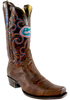 Florida Gators Boardroom Embroidered Men's Cowboy Boots
