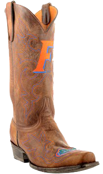 Florida Gators Embroidered Men's Cowboy Boots