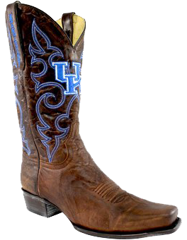 Kentucky Wildcats Boardroom Embroidered Men's Cowboy Boots