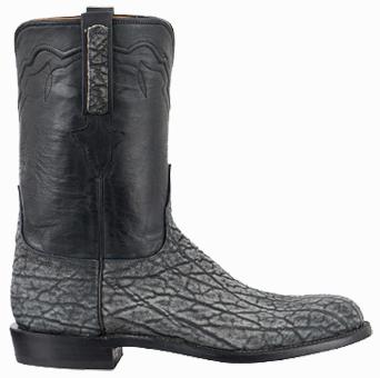Discount Men's Boots LUCCHESE MEN'S GRAY SAFARI ELEPHANT ROPER BOOTS
