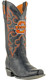 Oklahoma State Cowboys Boardroom Embroidered Men's Cowboy Boots