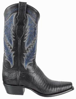 Discount Boots TONY LAMA SIGNATURE SERIES MEN'S BLACK TEJU LIZARD BOOTS