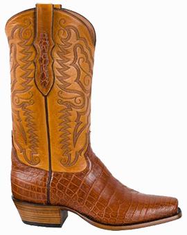 Discount Boots TONY LAMA SIGNATURE SERIES MEN'S BRANDY VINTAGE NILE CROCODILE BELLY BOOTS