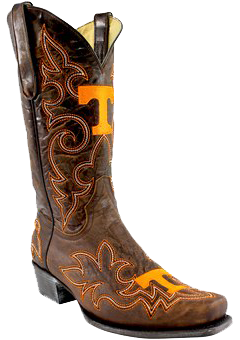 Tennessee Volunteers Original Embroidered Men's Cowboy Boots