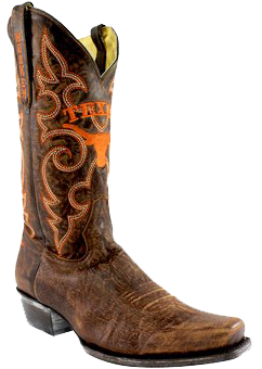 college logo cowboy boots - Fanatics Texas Longhorns Boardroom Embroidered Men's Cowboy Boots