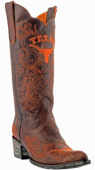 "Texas Longhorns Women's 13"" Embroidered Boots - Brown"