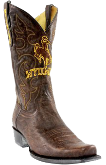 college logo cowboy boots - Wyoming Cowboys Boardroom Embroidered Men's Cowboy Boots