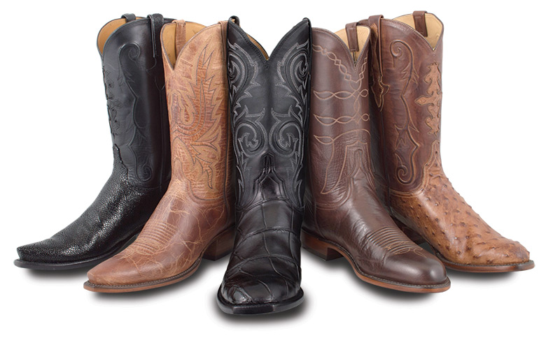 Assorted Exotic Skin Women's Cowboy Boots