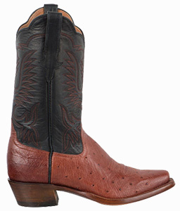 RIOS OF MERCEDES WOMEN'S ALMOND AMERICANO SMOOTH OSTRICH BOOTS