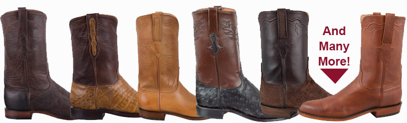 Check out all the great men's roper handmade roper cowboy boots right here!