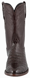 Lucchese Chocolate ultra Caiman Roper Boots Front