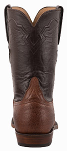Lucchese Men's Executive Mocha Bison roper Boots