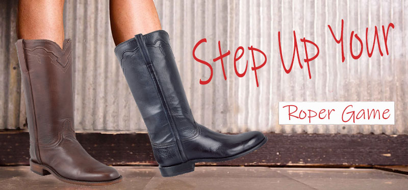 Step Up Your Roper Cowgirl Boots Game