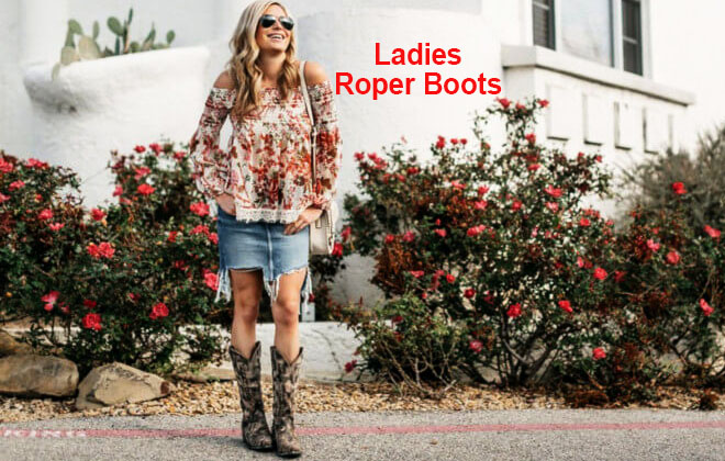 Ladies handmade roper cowboy boots