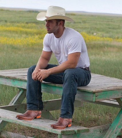 Black Jack goat leather handmade cowboy boots