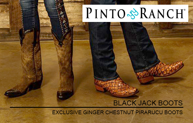 EXCLUSIVE GINGER CHESTNUT PIRARUCU HANDMADE MEN'S BOOTS