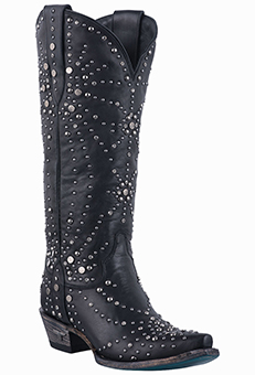 LANE WOMENS TALL STUDDED HANDMADE COWGIRL BOOTS