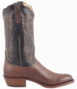 Luccfhese Men's Whiskey Baby Buffalo Handmade Cowboy Boots