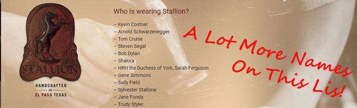 Stallion Boot Sale - Famous People Wearing Stallion Boots