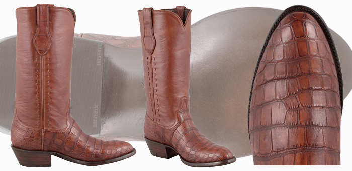 Stallion Boot Sale - Antique Cognac American Alligator Boots