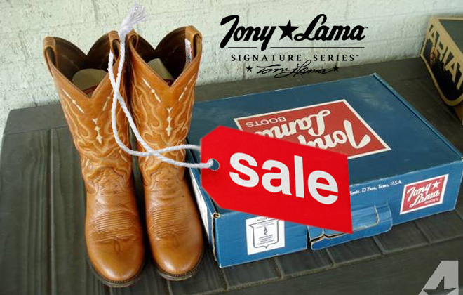 Tony Lama Cowboy Boots Sale Featured Image