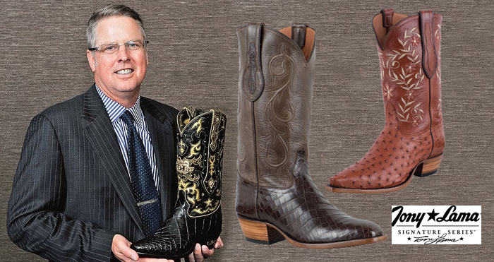 Tony Lama Cowboy Boots - Presidential Cowboy Boots Shown with Other Pairs of Tony Lama boots