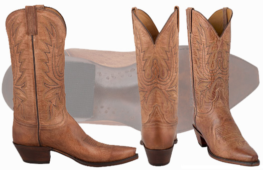 Best Women's Cowgirl Boots - LUCCHESE TAN MAD DOG