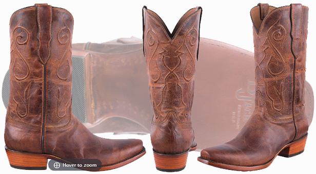 Black Jack Cowboy Boots - Peanut Mad Dog Goat Boots