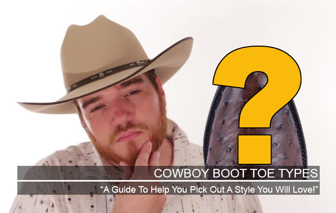 Cowboy Boot Toe Types Featured