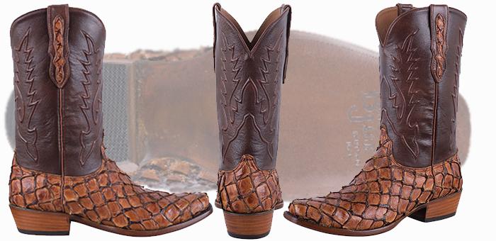 Pirarucu Boots Sale - BLACK JACK EXCLUSIVE GINGER CHESTNUT PIRARUCU BOOTS