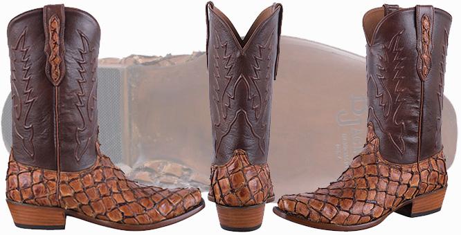Pirarucu Fish Boots - BLACK JACK GINGER CHESTNUT PIRARUCU BOOTS